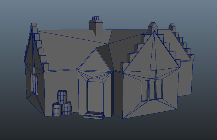 House - Modeled by 3dregenerator, Released by Free 3d Models
